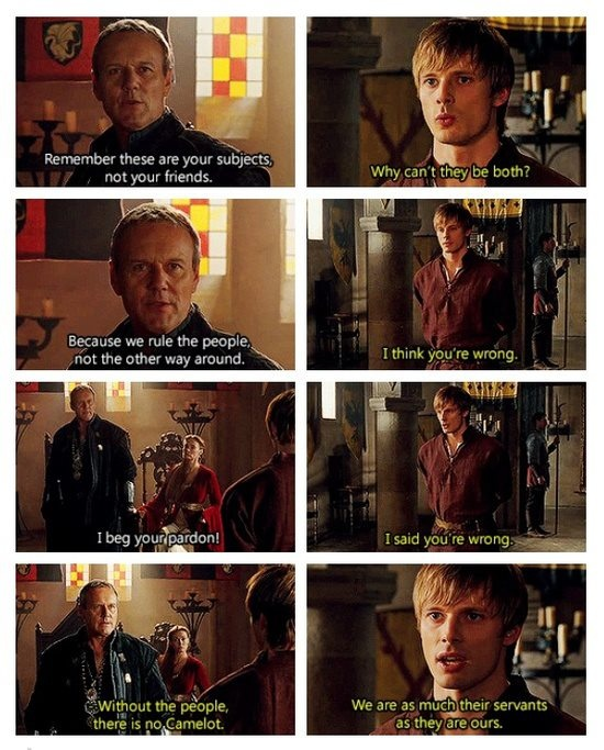 And this my friends is why Arthur is a better king than Uther