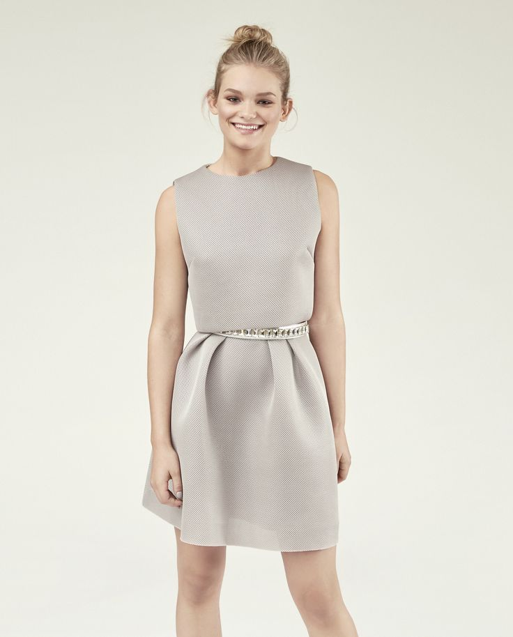 Mix & Match your perfect dress! OLIVIA-LINA in silver grey with a crystal belt in silver. Own the night.
