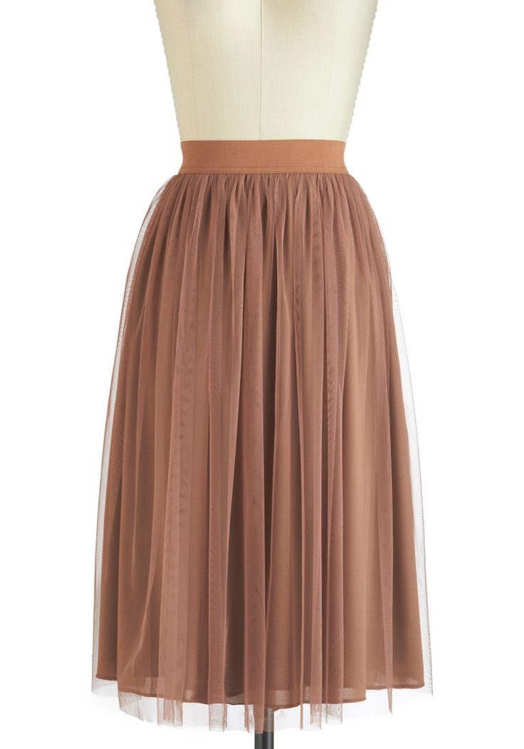 Hazelnut Coffee Skirt - Brown, Party, Fairytale, Long, Solid