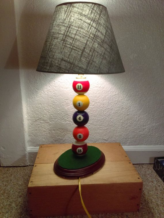 Take 20 Off Handmade Billiard Balls Table Lamp Homemade Lamps Decorative Table Lamps Diy Table Lamp