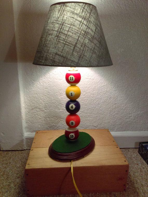 Take 20 Off Handmade Billiard Balls Table Lamp Homemade Lamps Diy Table Lamp Decorative Table Lamps