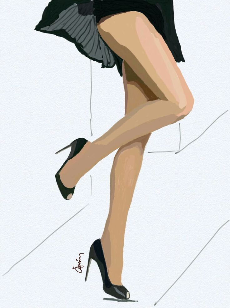 #draw #drawing #shoes #highheels #open #toe #black #stiletto #tan #pantyhose #samsungsnote