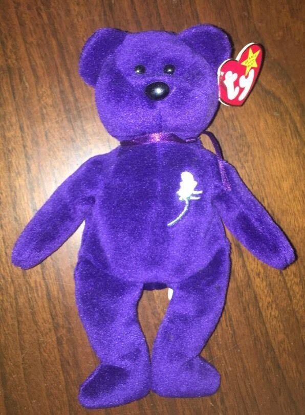 PRINCESS (Diana) Bear 1997 Ty Beanie Baby ~ MINT!!!  | eBay