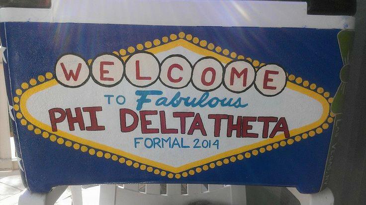 Glacière pour DJB. Vegas à thème. Phi Delta Theta   – Formal Stuff