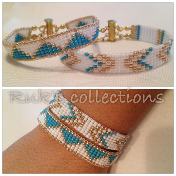 el yapımı boncuk bileklik/ handmade beadloom bracelet