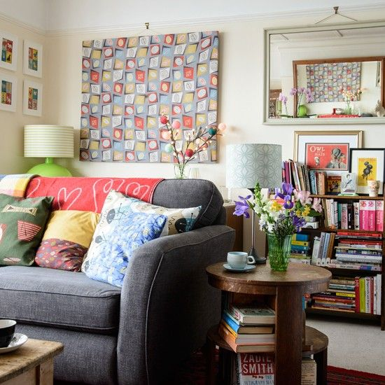 Cosy eclectic living room | Living room decorating idea | Style at Home | Housetohome.co.uk