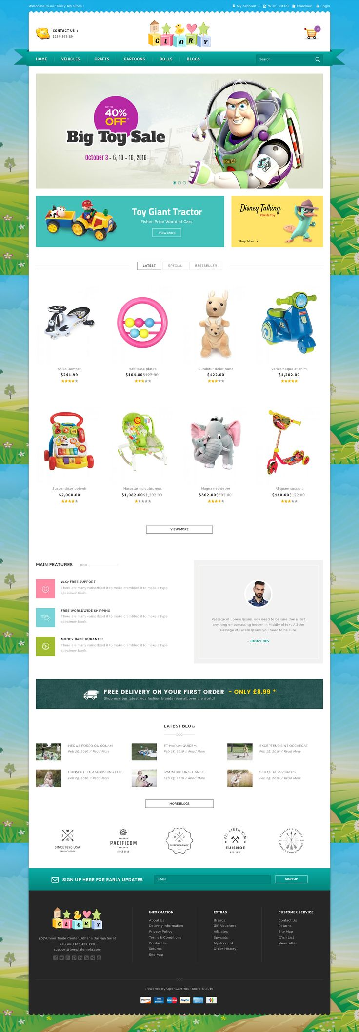 Glory Shop OpenCart Theme is specially designed for shoes, books, lighting, jewellery, cosmetic, lingerie, fashion designer clothes, beauty store, furniture, #toys, #kids and Multipurpose #stores.