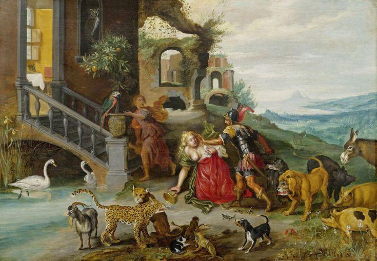 * Jan Breughel II (de Jonge) - - - Scène uit het verhaal van de deugdzame Romeinse Lucretia