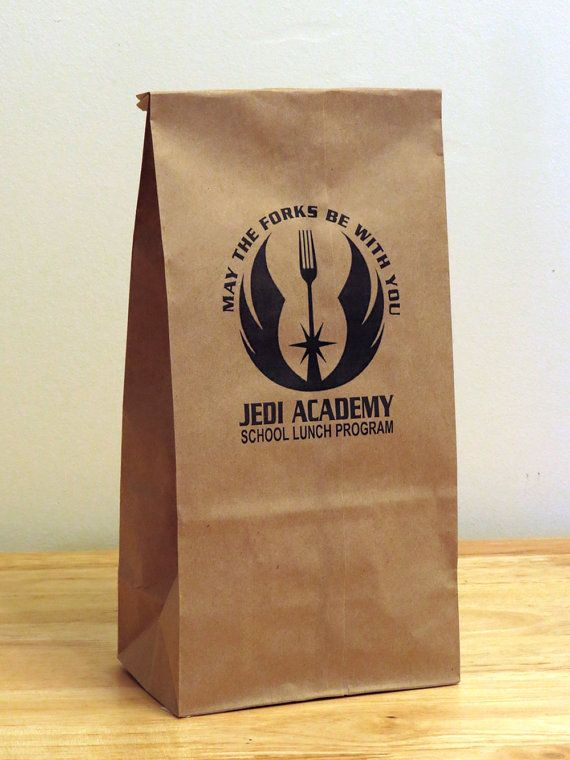 40 best funny gag gifts lunch bags images on pinterest lunch 5 star wars jedi academy humorous lunch bags star wars party supplyboyfriend negle Choice Image