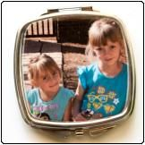 Printed Compact Mirror.                              For great wedding Favours or personalised gifts for any occasion see our supplier www.onlinegiftshop.co.za featuring on www.weddingangeldirectory.co.za in South Africa