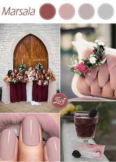 unique pantone marsala and mauve fall wedding colors 2015 trends #pantonecolorsfall2015