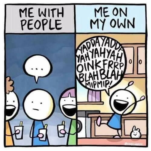 Oh god, I thought I was the only psychologically imbalanced idiot in the world to talk to themselves out loud :D  INFP.