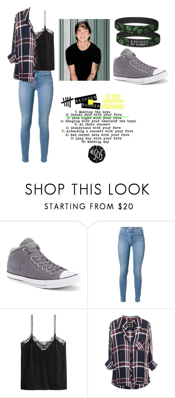 """""""Day 2 of the 10 day 5SOS challenge. Casual date with fave"""" by brookestyles51668 ❤ liked on Polyvore featuring Converse and H&M"""