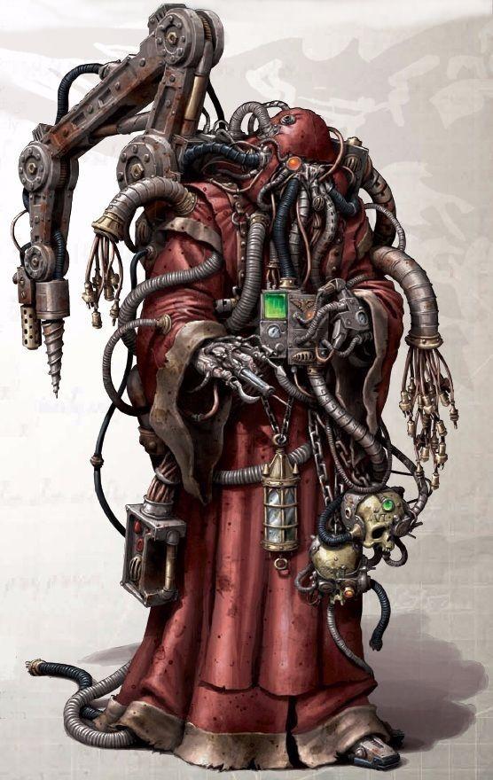 tech-thulhu Adeptus Mechanicus Tech Priest.  #cthulhu ♥craft