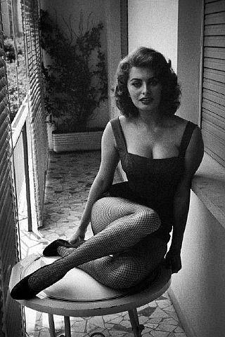 artnet Galleries: Sofia Loren. Rome, 1955 by David 'Chim' Seymour from Magnum…