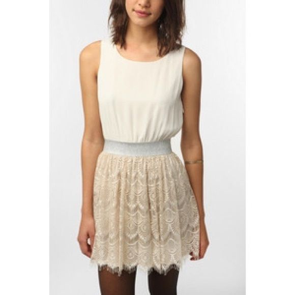 Urban outfitters lace and lurex dress Super cute! Worn once Urban Outfitters Dresses