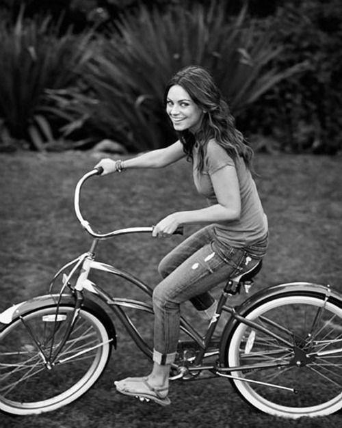 Mila - mila-kunis PhotoBicycles, Milakunis, Bikes Girls, Mila Kunis, Beautiful, Bikes Riding, Celebrities, People, Sam Jones
