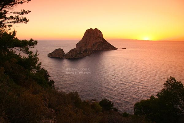 Es Vedra at sunset