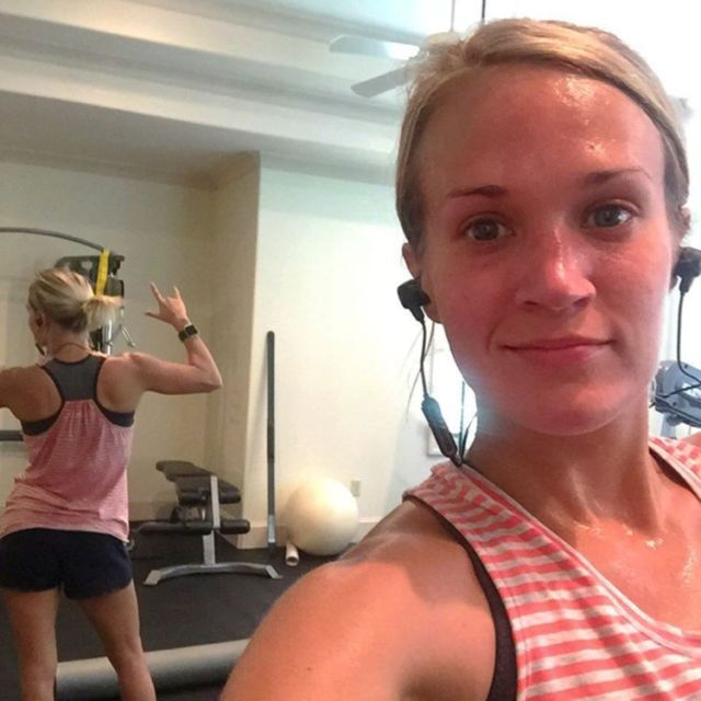 Carrie Underwood 'Keeps It Real' in Makeup-Free Workout Selfie -- See the Pic!