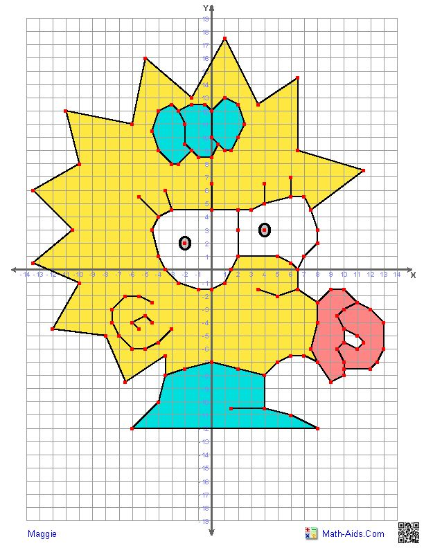 characters worksheets math tastic ideas graphing characters coordinate ...