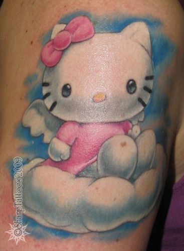 Hello Kitty Tattoo lol @Joanna Szewczyk Gierak Kris Nunez