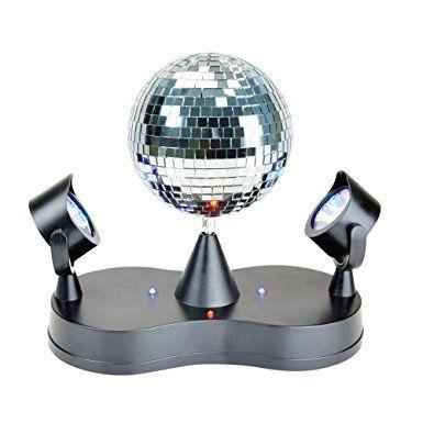 X4-LIFE LED Spiegelkugel mit Doppelstrahler 701379