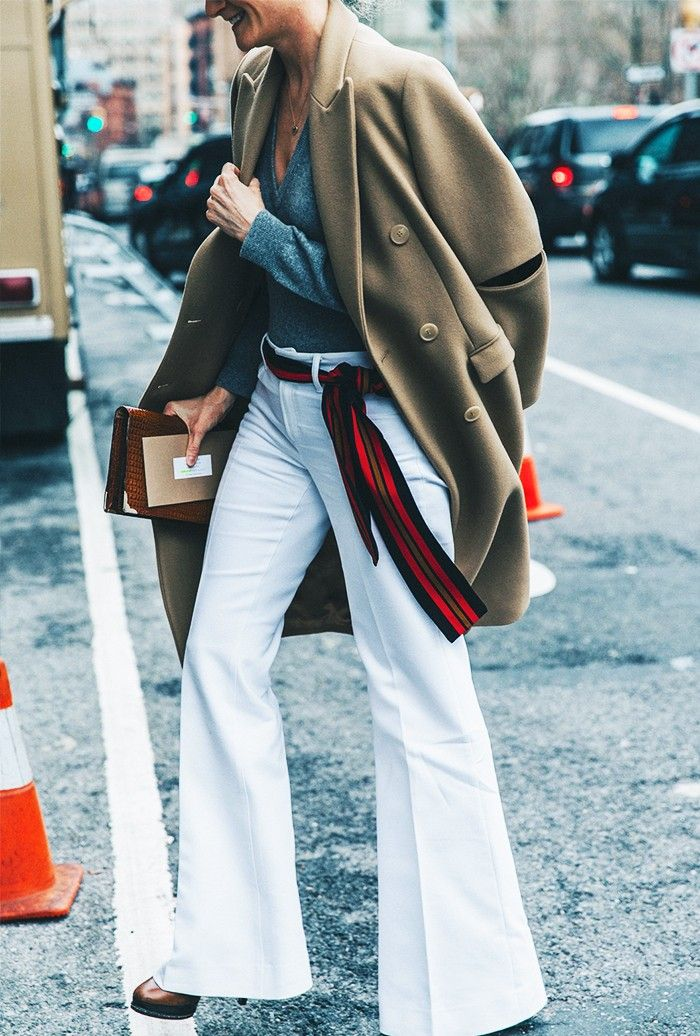 Use a silk scarf to belt your look.The Who What Wear 30-Day Spring Style Challenge via @WhoWhatWear