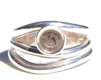 Solidified Ashes Ring .925 Sterling Silver Cremation by CloseByMe