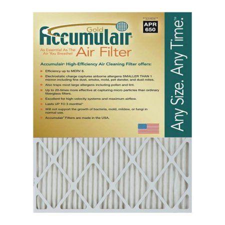 Accumulair Gold Merv 8 Air Filter/Furnace Filters (4 pack), Multicolor