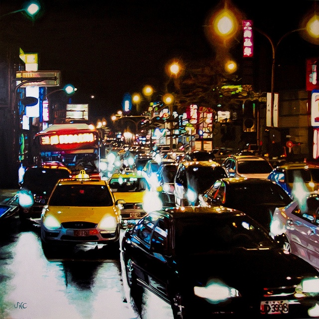 """Taipei"" / Oil on canvas  Susana Nahmias"