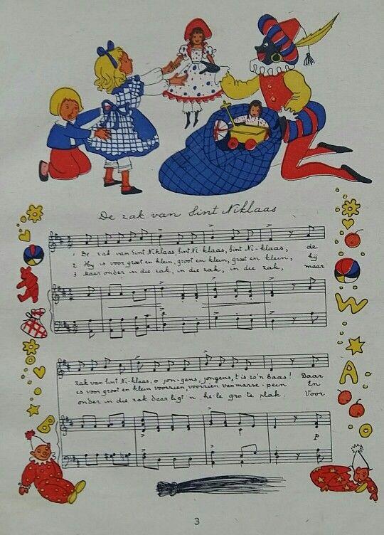Sinterklaas 'liederen' illustratie