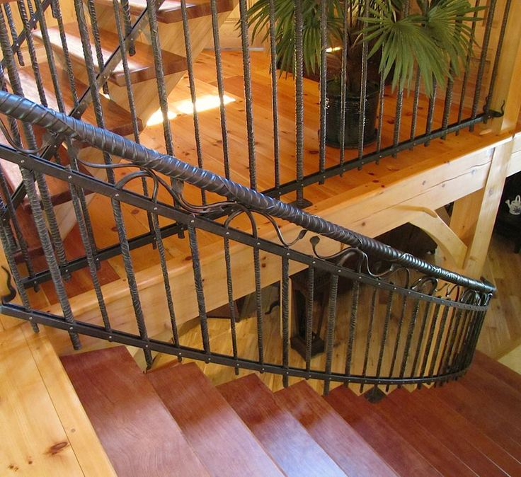Giant Bridge #rebar #twisted #custom #staircase #forged #wroughtiron  #railing
