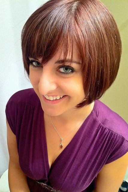 Cute Auburn Bob with bangs for fall by To Uncertainty And Beyond, via Flickr