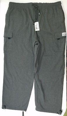 Pro Club Mens Big & Tall Pants Fleece Heavyweight Cargo Lounge Charcoal Grey 7XL