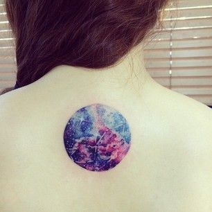 And here's a gorgeous, watercolor-inspired tattoo of the constellation in space. | 25 Tattoo Ideas For Scorpios