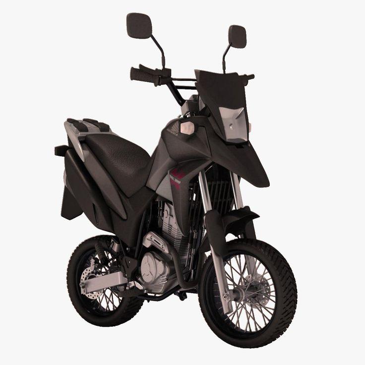 Honda Xre 300 Cartoon 3D Max - 3D Model