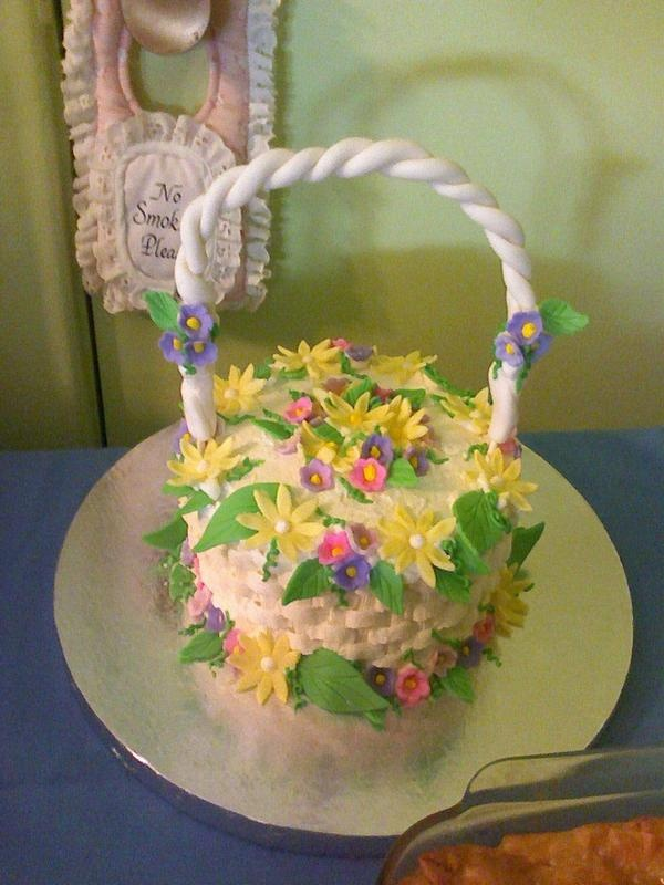 19 best easter images on pinterest decoration desserts and foods my first easter basket cake negle Images