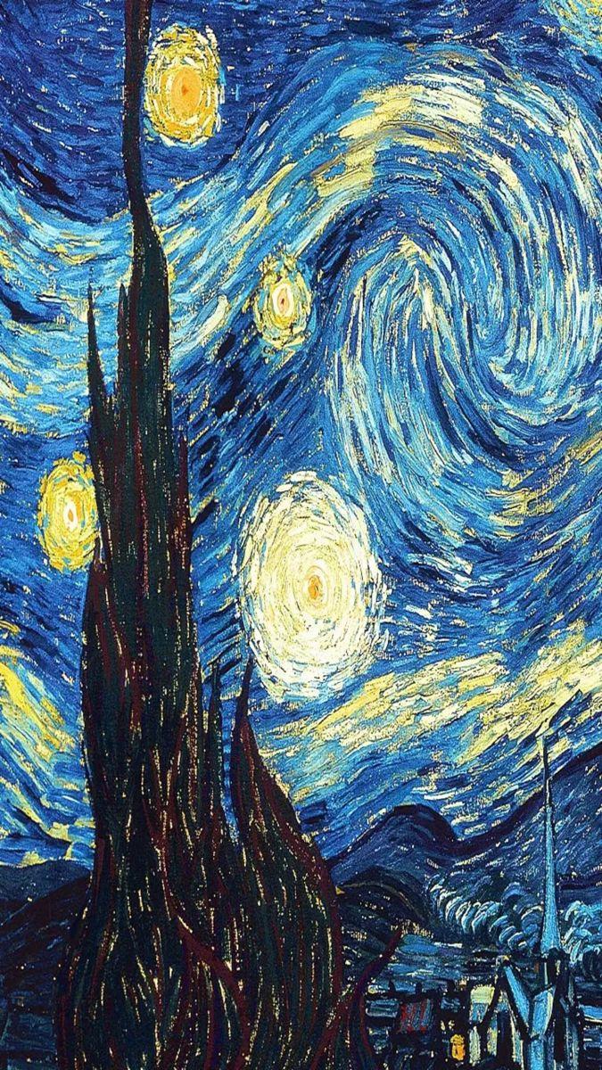 La Noche Estrellada Vicent Van Gogh Van Gogh Noche Estrellada Fondo De Arte Pinturas De Van Gogh