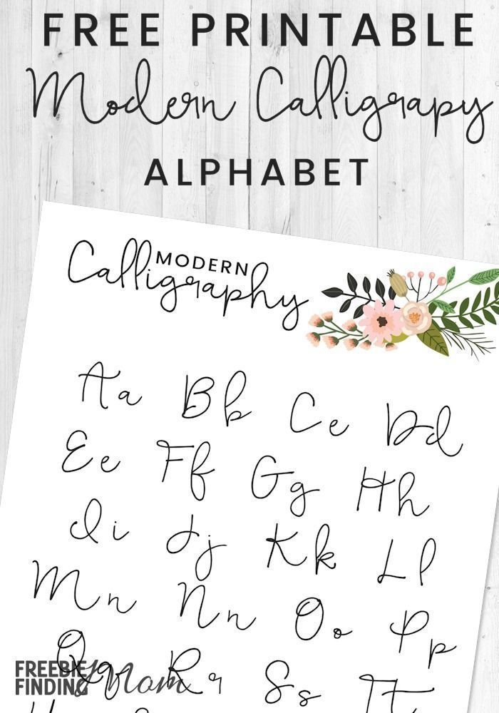 Free Printable Modern Calligraphy Alphabet Modern Calligraphy Alphabet Calligraphy For Beginners Learn Modern Calligraphy