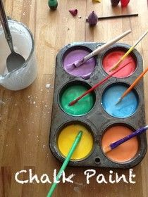 Tiza liquida para pintar fuera. Homemade Mamas: Chalk Paint 2: Cornstarch Paint, Outdoor Fun, Kids Crafts, Homemade Chalk Paint, Summer Fun, Kid Stuff, Craft Ideas, Kid Crafts