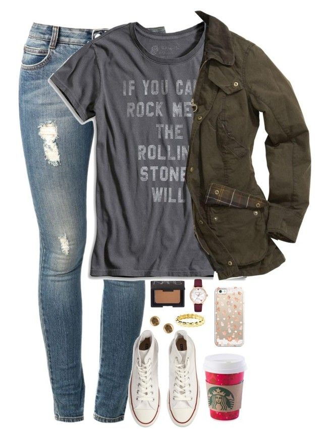 """""""you're so perfect for me. I love you."""" by kaley-ii ❤ liked on Polyvore featuring STELLA McCARTNEY, Lucky Brand, Barbour, Converse, Alex and Ani, Casetify, NARS Cosmetics and Kate Spade"""