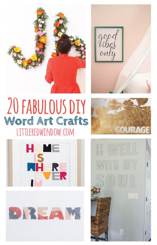 Instead of buying expensive laser cut word art, make some gorgeous DIY word art and typography craft projects yourself!