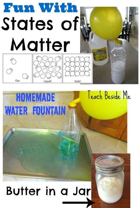 States of Matter ~ activities with Solids, Liquids and Gases