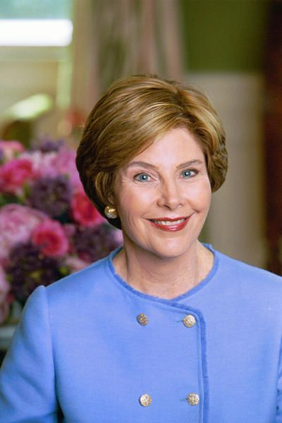 43. Laura Bush   A former public school teacher and librarian who championed literacy and education, Laura became the first person other than the president to deliver the weekly presidential radio address. Just two months after the September 11 attacks, the radio address focused on the repression of women by the Taliban in Afghanistan
