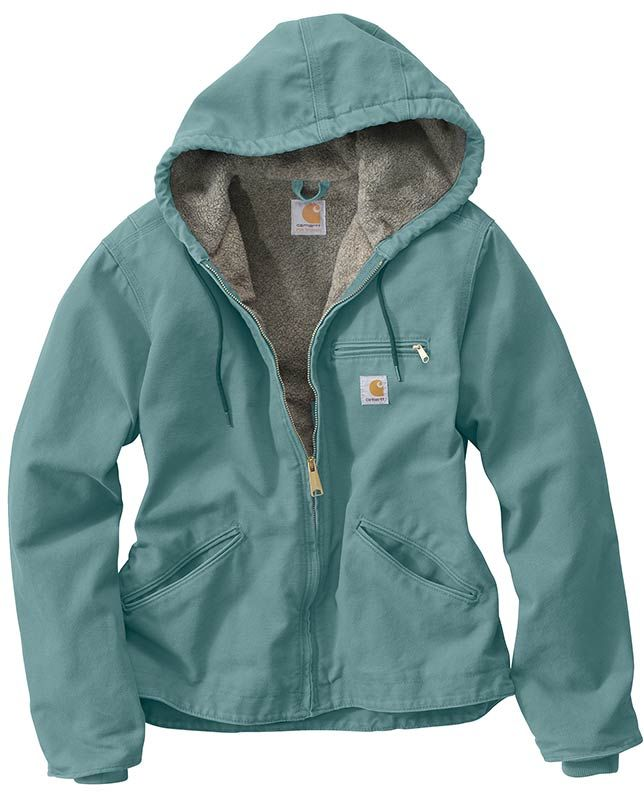 "Carhartt Women's Coastline Green Sandstone Sierra Jacket - Casual Outfits for women #countrygirl #CountryFashion #countryoutfit drysdales.com #Fall2015 ""gifts for cowgirls"" ""gifts for ladies"" ""gifts for women"" Fall ""casual clothing"" for ladies cold weather winter layering basics essentials ranch work tough resilient"