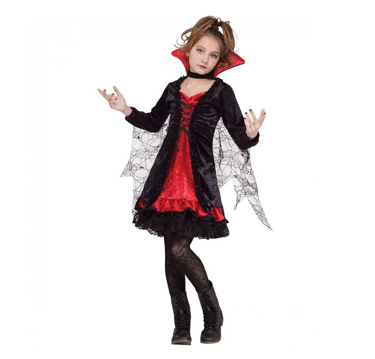 vampiresse dentelle costume costumes filles costumes enfants d guisements halloween. Black Bedroom Furniture Sets. Home Design Ideas