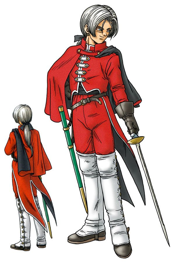Angelo from Dragon Quest 8. He's a really perverted Templar who got kicked out of his abbey because all of the jerk head monks didn't like him, even though I think they are 10 times worse. But I really like Angelo because he's a decent healer and fighter and he's pretty funny.