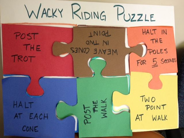 A fun, interactive game to challenge therapeutic riding students. www.horsesthatheal.org