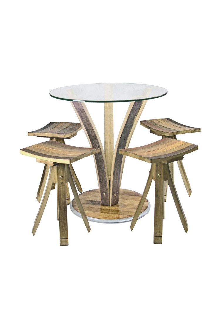 Stelo table, with Stelo stools