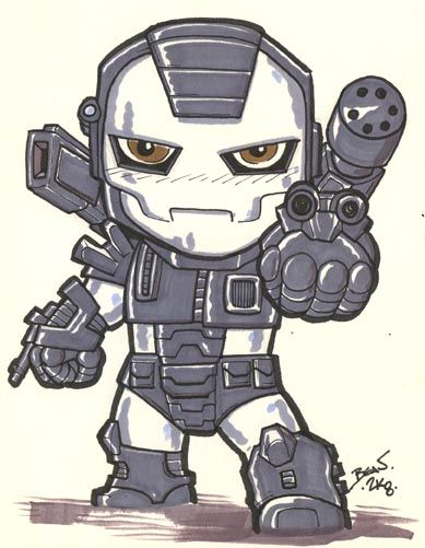 Chibi-War Machine. by hedbonstudios on DeviantArt